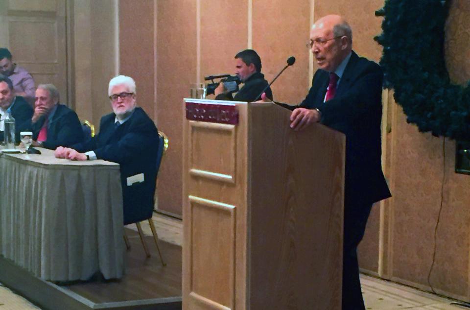 Ομιλία του Κώστα Σημίτη σε εκδήλωση του Ομίλου Πολιτικού και Κοινωνικού Προβληματισμού Ιωαννίνων